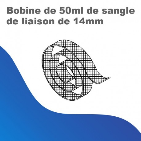 Bobine de 50 ml de sangle de liaison de 14mm