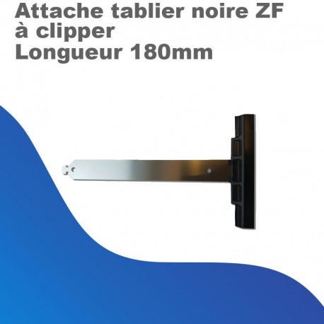 Attache Tablier Noire ZF - à Clipper - Longueur 180mm