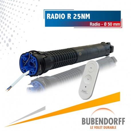 Moteur Bubendorff Radio R - 25nm/16trs Ø50mm