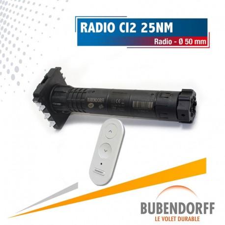 Moteur Bubendorff radio CI2 ID2 - 25 Nm