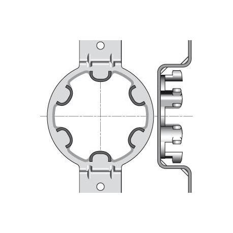 Support Moteur Somfy Ø50mm Omega - Entraxe 90mm - Caisson Type Plastival, SPPF