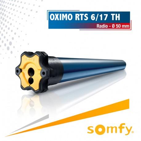 Moteur Somfy OXIMO TH RTS 6/17 - tête étroite