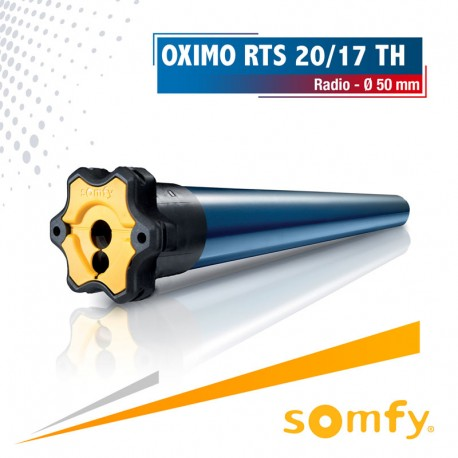 Moteur Somfy OXIMO TH RTS 20/17 - tête étroite