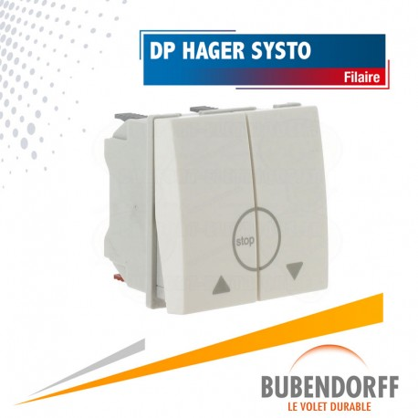 Double-poussoir HAGER gamme Systo