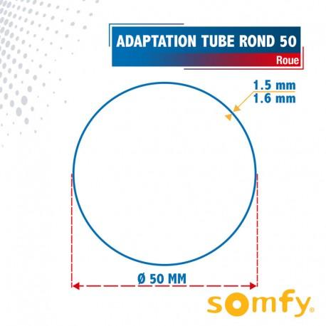 Roue pour tube Rond 50 pour Moteurs Somfy Ø50mm