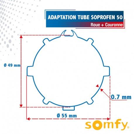 Roue pour tube SOPROFEN 50 pour Moteurs Somfy Ø50mm