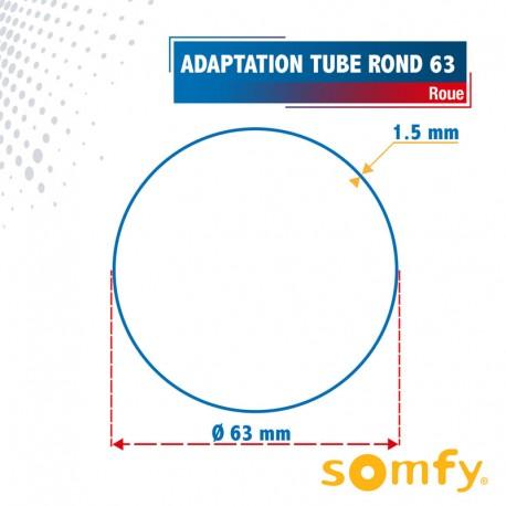 Roue pour tube Rond 63 pour Moteurs Somfy Ø60mm