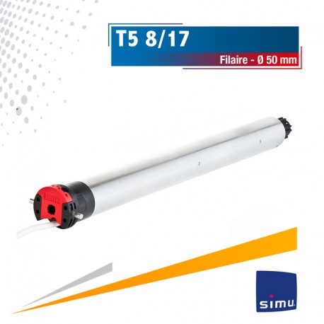 Moteur Filaire SIMU T5 8/17 Ø50mm