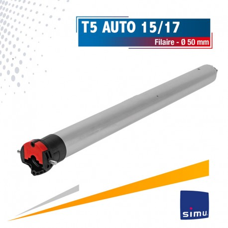 Moteur Filaire SIMU T5 Auto 15/17 Ø50mm