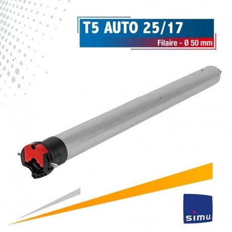 Moteur Filaire SIMU T5 Auto 25/17 Ø50mm